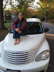 Nora on PT Cruiser